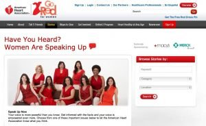 Fire Up Your marketing with event sponsorshop like this go red for women