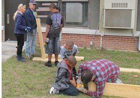 Building a garden at a local school