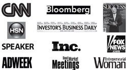 Major media appearance logo's